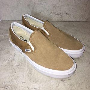 Vans Tan Suede Slip On Sneakers
